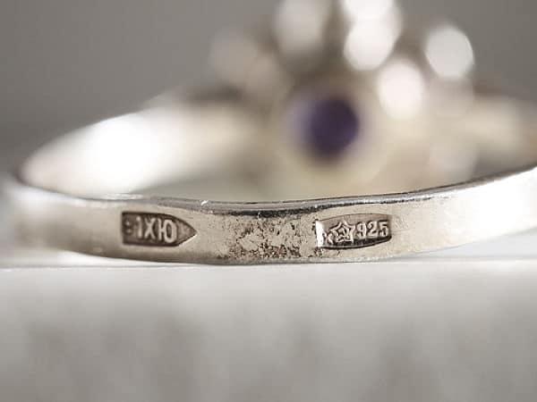 серебряное кольцо проба 925