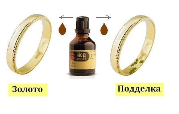 йод и золотые кольца