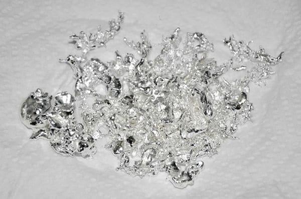 полученное серебро