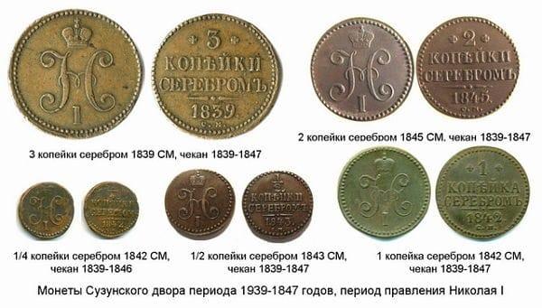 монеты Сузунского монетного двор