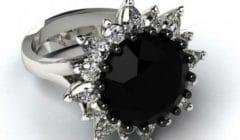 черный бриллиант кольцо