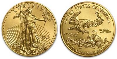 Американский Орел, золото